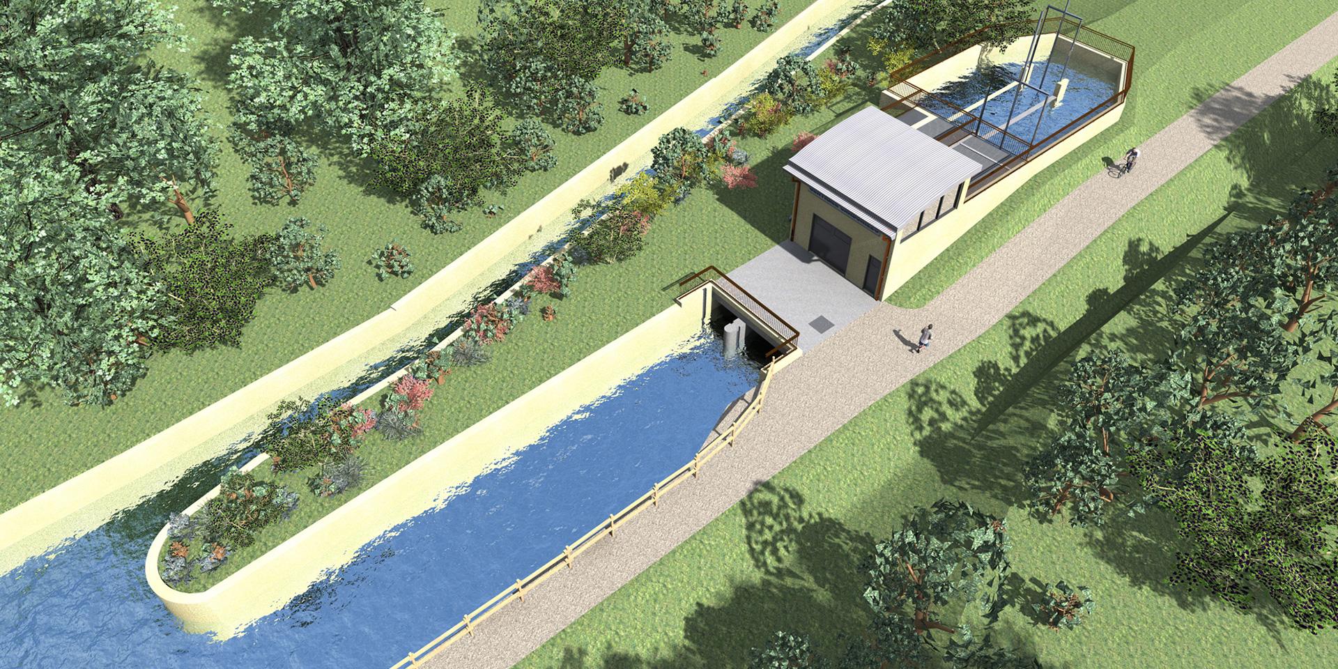 Centrale idroelettrica a Canossa, Binini Partners, Società di architettura e ingegneria
