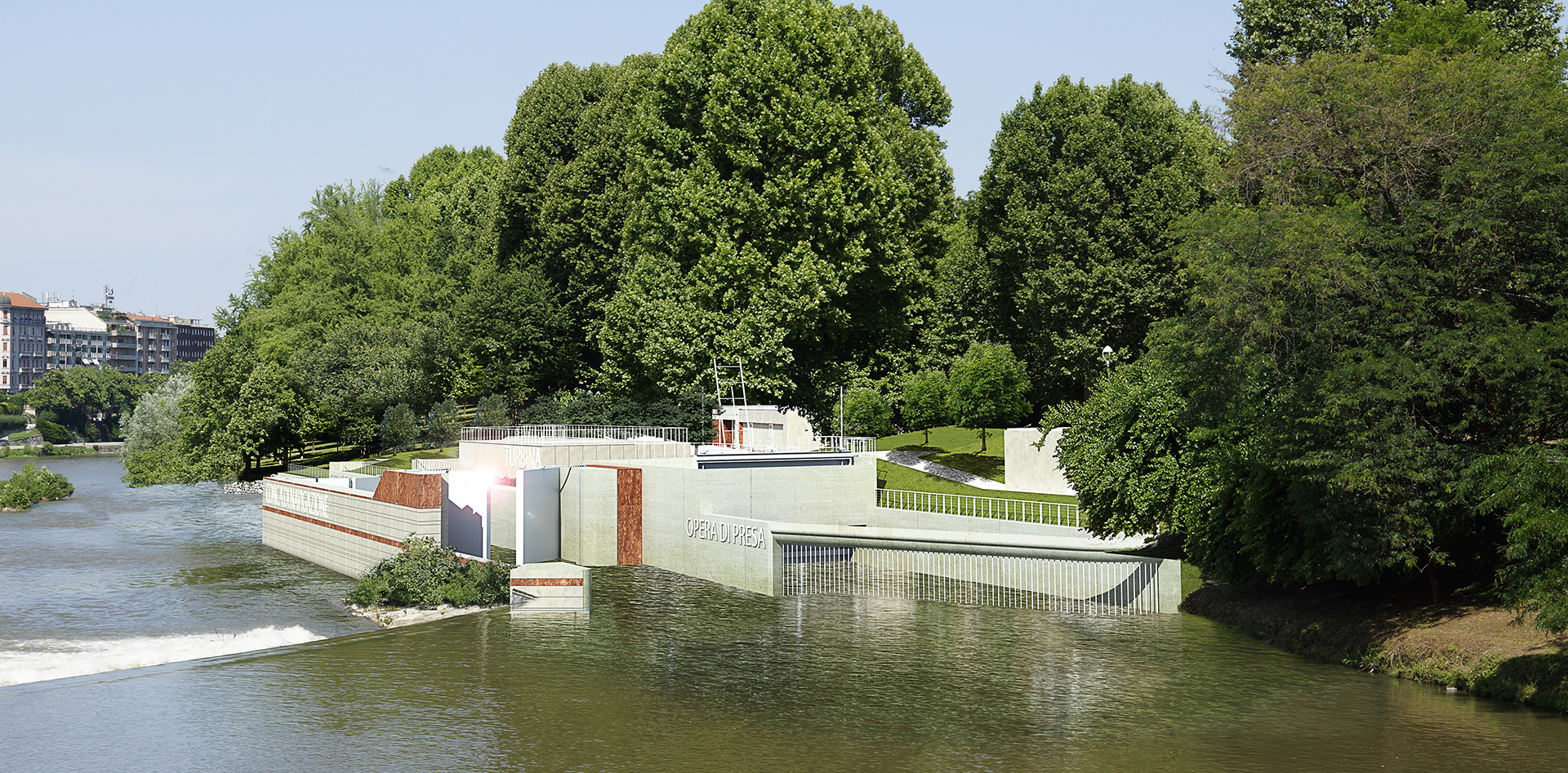 Centrale idroelettrica e conca di navigazione a Torino, Binini Partners, Società di architettura e ingegneria