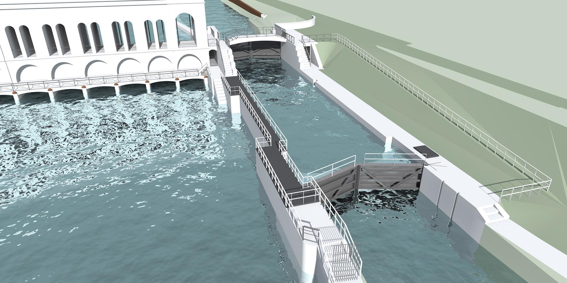 Conca di navigazione a Panperduto, Binini Partners, Società di architettura e ingegneria