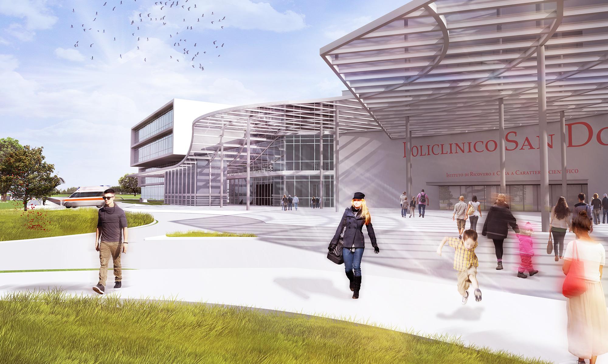 Architetto Sara Galeazzi, Masterplan IRCCS Policlinico San Donato, Binini Partners , Società di architettura e ingegneria, Reggio Emilia, Italia