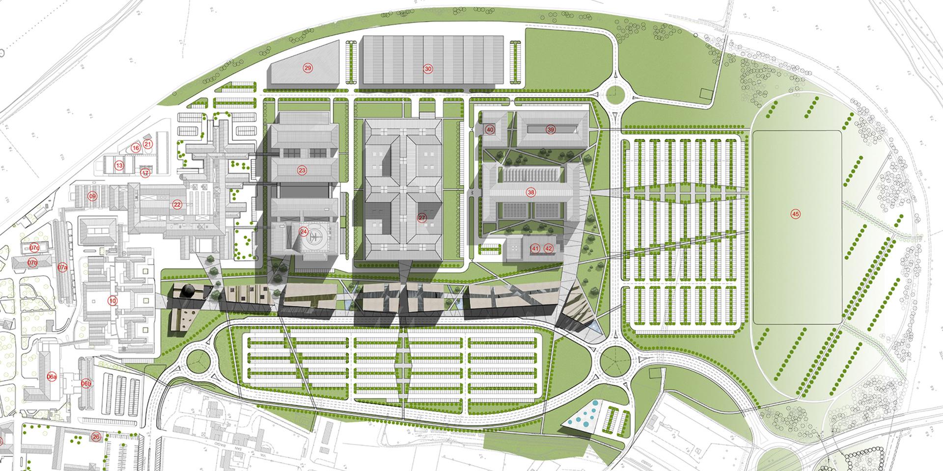 Piano attuativo a Cisanello, Pisa, Binini Partners, Società di architettura e ingegneria