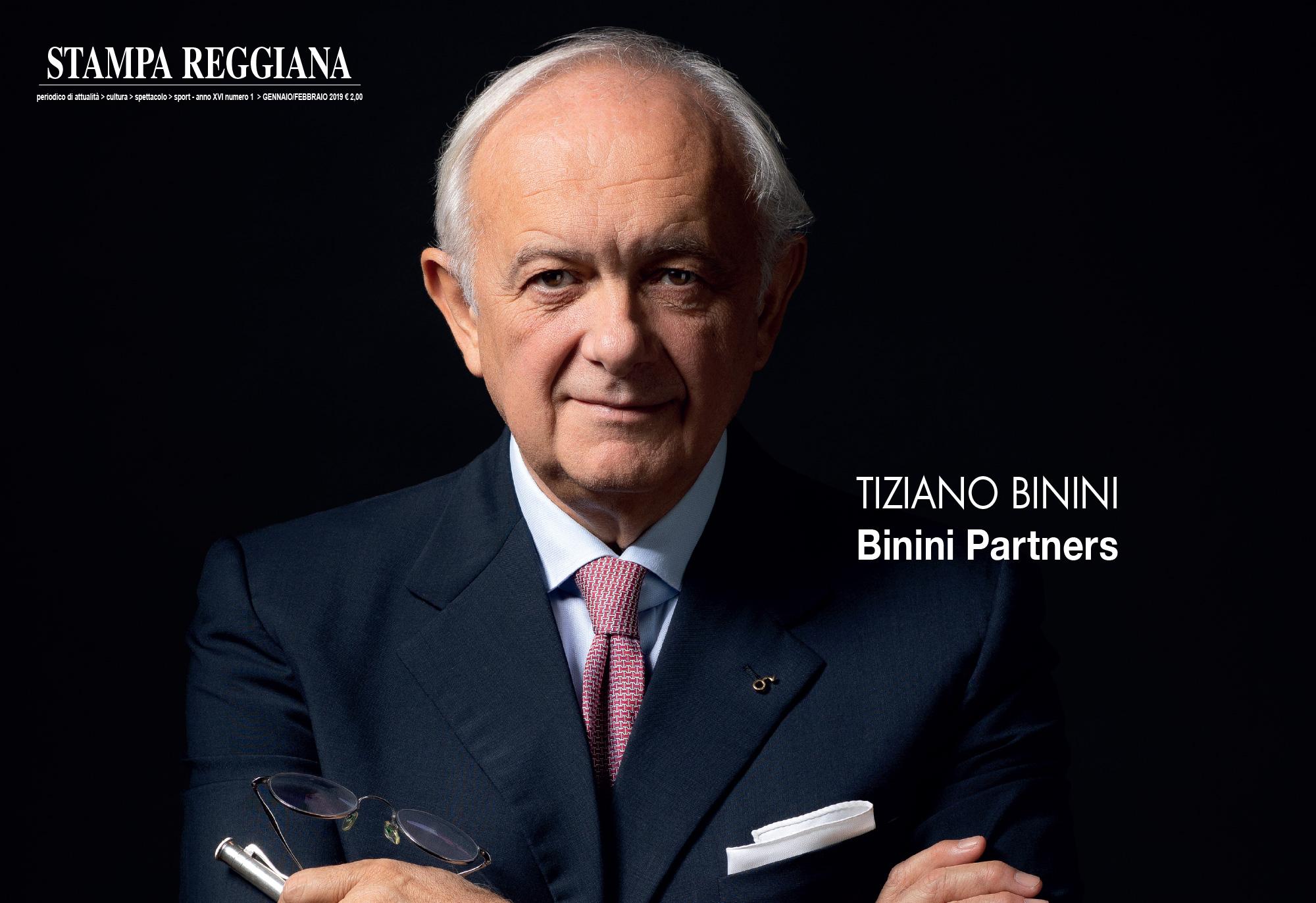 Intervista a Tiziano Binini, Stampa Reggiana, gen/feb 2019, Binini Partners, Società di architettura e ingegneria