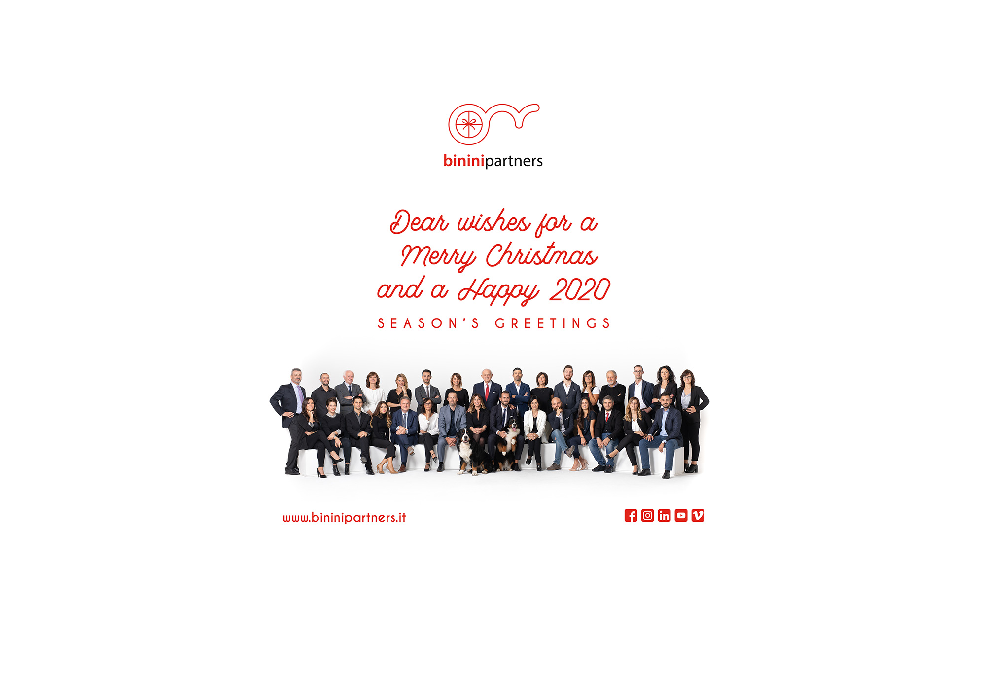 Buone Feste 2019, Binini Partners, Società di architettura e ingegneria